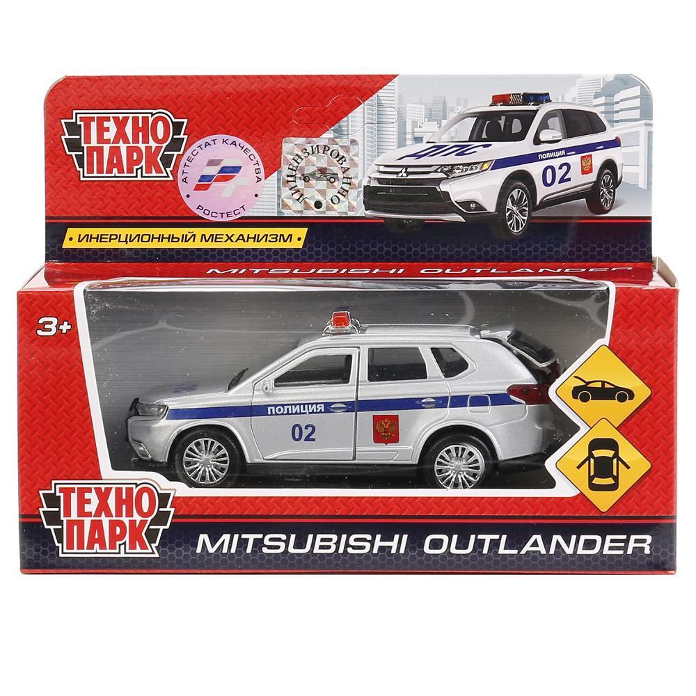 ТехноПарк Металлическая инерционная модель Mitsubishi Outlander, полиция, 12 см.