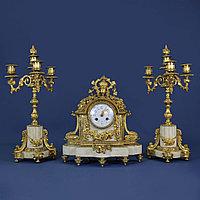Каминный гарнитур в стиле Людовика XIV. Часовая мастерская Vincenti & Cie