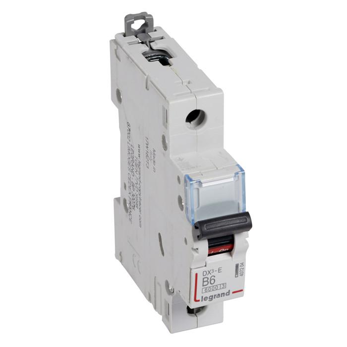 Автоматический выключатель DX3-Е В6 1П 6000/6КА /407204/