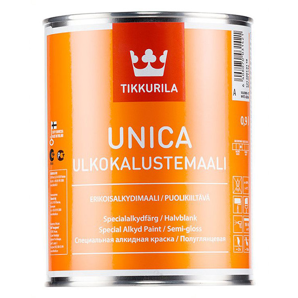 Краска алкидная  UNICA A  п/гл 9л
