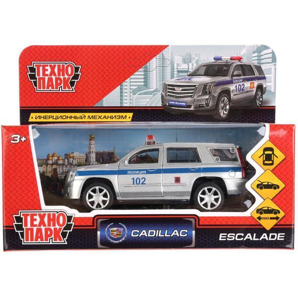 ТехноПарк Металлическая инерционная модель Cadillac Escalade, Полиция, 12 см.