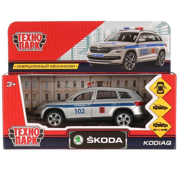 ТехноПарк Металлическая инерционная модель Skoda Kodiaq, полиция, 12 см.
