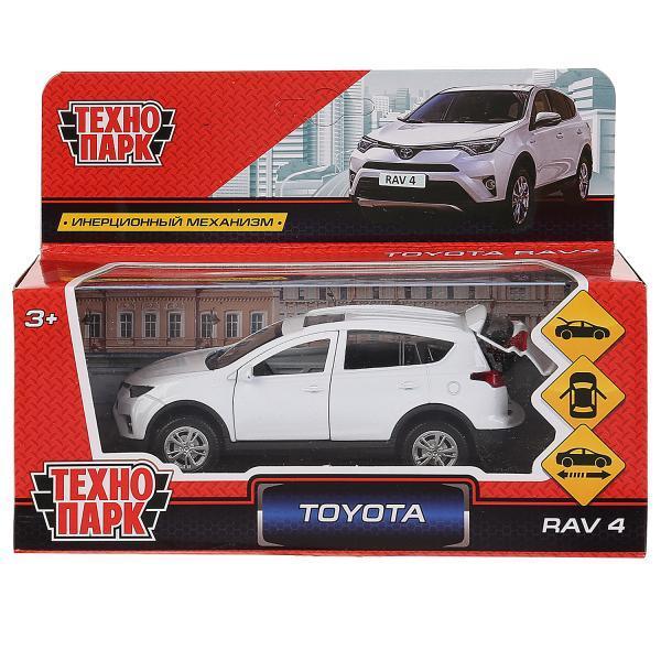 ТехноПарк Металлическая инерционная модель Toyota RAV 4, белый, 12 см.