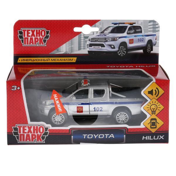 ТехноПарк Металлическая инерционная модель Toyota Hilux (свет, звук), Полиция, 12 см.