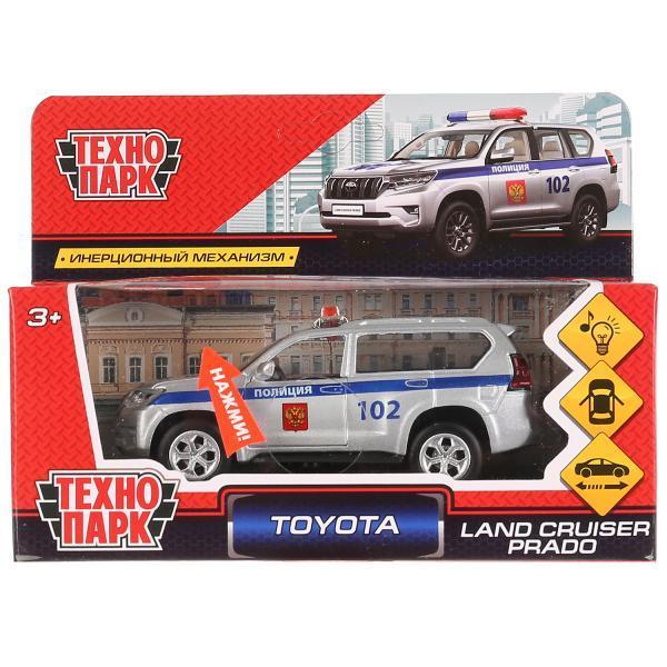 ТехноПарк Металлическая инерционная модель Toyota Land Cruiser Prado, Полиция, 12 см.