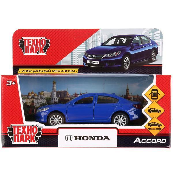 ТехноПарк Металлическая инерционная модель Honda Accord, синий, 12 см.