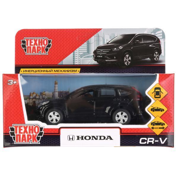 ТехноПарк Металлическая инерционная модель Honda CR-V, чёрный, 12 см