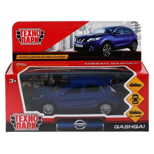 ТехноПарк Металлическая инерционная модель Nissan Qashqai, синий, 12 см.