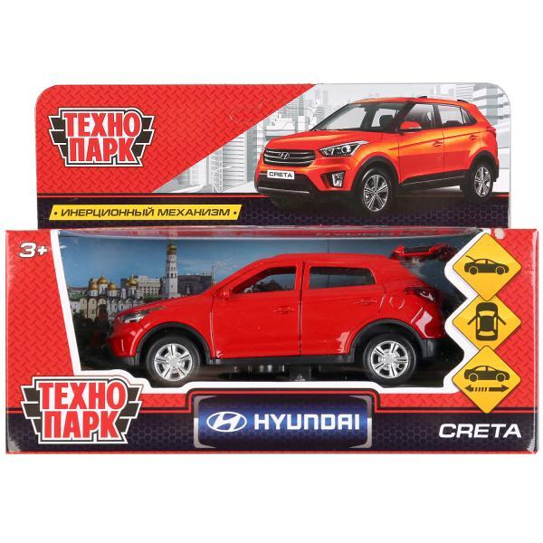 ТехноПарк Металлическая инерционная модель Hyundai Creta, красный, 12 см.