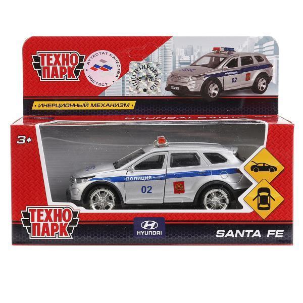 ТехноПарк Металлическая инерционная модель Hyundai Santa Fe, полиция, 12 см.