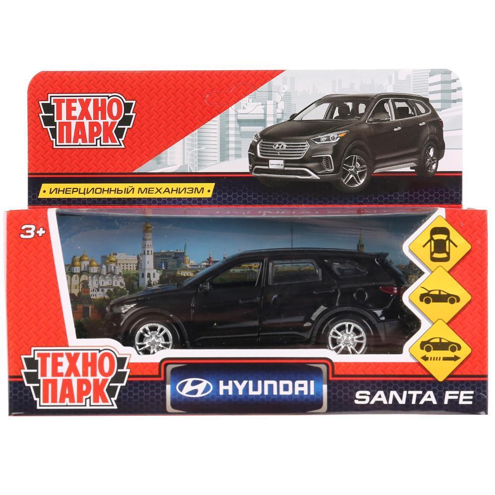 ТехноПарк Металлическая инерционная модель Hyundai Santa Fe, чёрный, 12 см.
