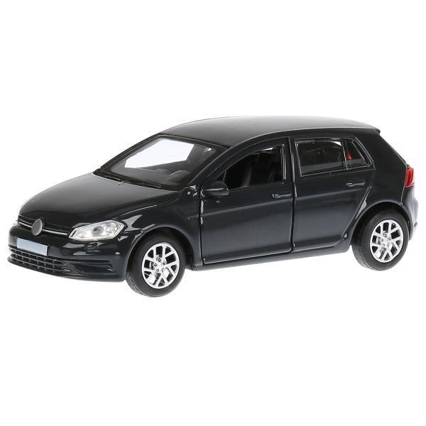 ТехноПарк Металлическая инерционная модель Хэтчбэк Volkswagen Golf, серый, 12 см.