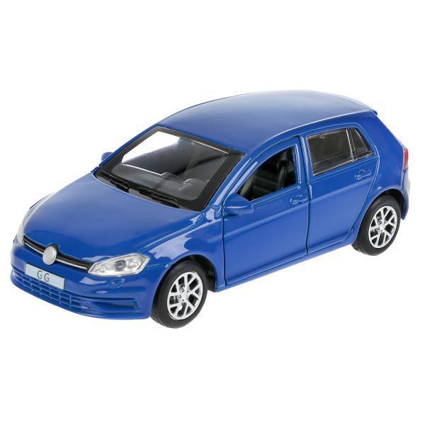 ТехноПарк Металлическая инерционная модель Хэтчбэк Volkswagen Golf, синий, 12 см.