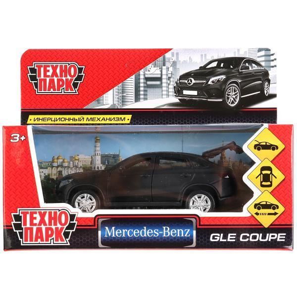 ТехноПарк Металлическая инерционная модель Mercedes-Benz Gle Coupe, матовый черный, 12 см.