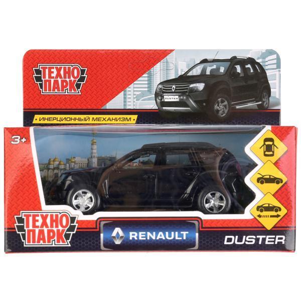 ТехноПарк Металлическая инерционная модель Renault Duster, чёрный, 12 см.