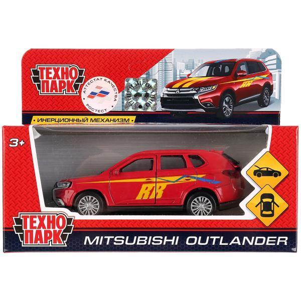ТехноПарк Металлическая инерционная модель Mitsubishi Outlander, спорт, 12 см.