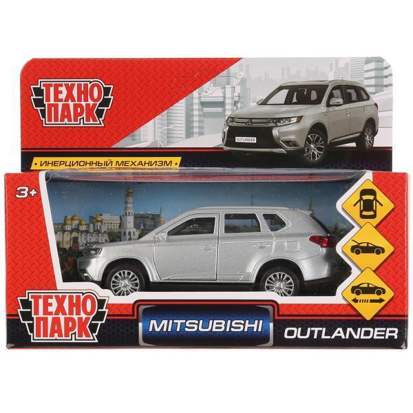 ТехноПарк Металлическая инерционная модель Mitsubishi Outlander, серебристый, 12 см.