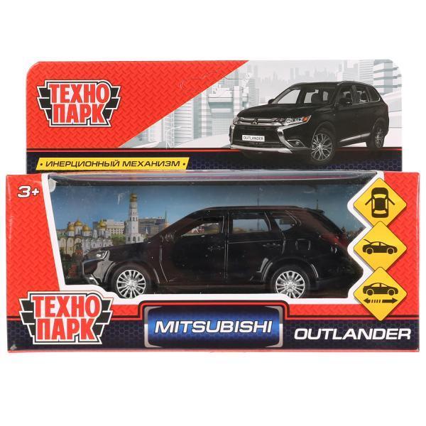 ТехноПарк Металлическая инерционная модель Mitsubishi Outlander, чёрный, 12 см.