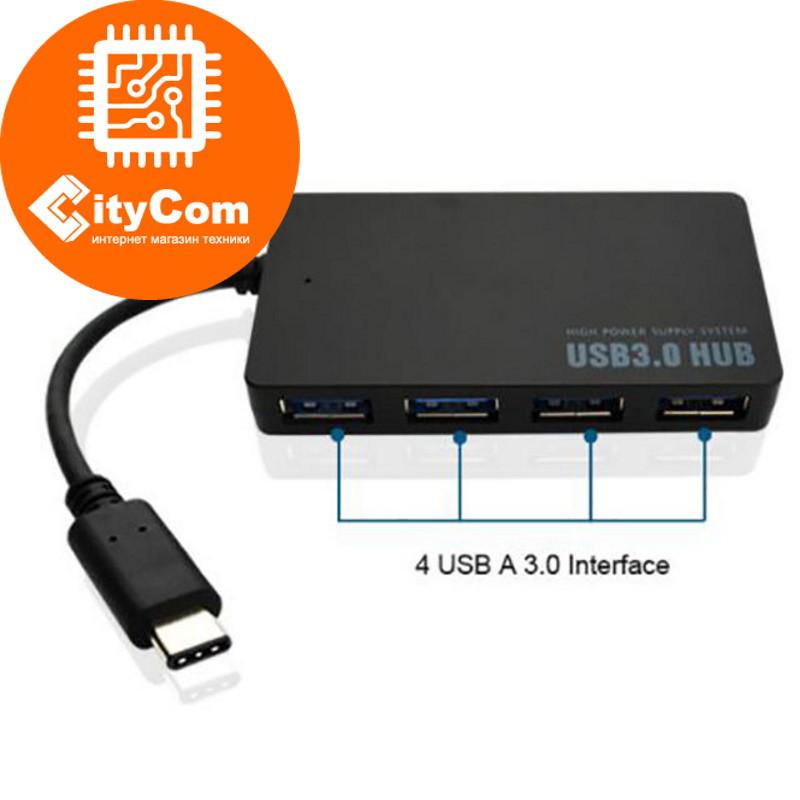 Расширитель USB портов, USB Type-C 4-port 3.0 HUB, HT-27D. Арт.6174