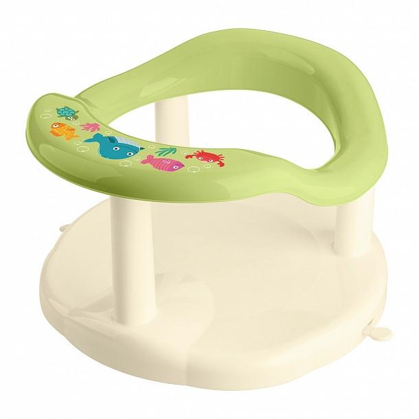 Бытпласт Сиденье для купания детей с декором, салатовый