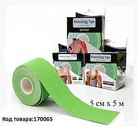 Пластырь для поддержки мышц Kinesiology Tape спортивный тейп Кинезио 5 см х 5 м (зеленый)