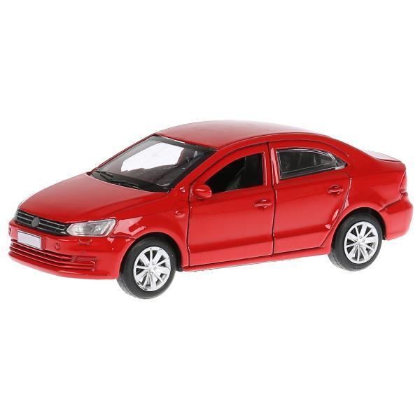 ТехноПарк Металлическая инерционная модель Седан Volkswagen Polo, красный, 12 см.