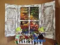 """Фальш-окно для стильного интерьера """"Старинный дом"""""""