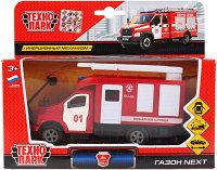 ТехноПарк Металлическая инерционная модель ГАЗ Газон NEXT, Пожарная служба, 14,5
