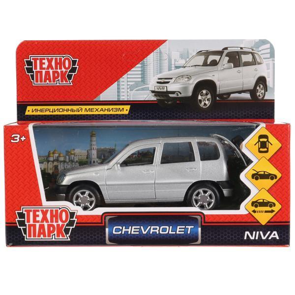 ТехноПарк Металлическая инерционная модель Chevrolet Niva, красный, 12 см.