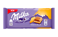 Milka Cream & Biscuit (100 грамм)  (18 шт. в упаковке)