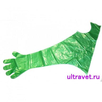 Перчатки с наплечником для искусственного осеменения Идеальная ( уп 50шт), фото 2