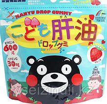 Жевательные витамины для детей Рыбий жир, Unimat Riken со вкусом клубники. 90 шт