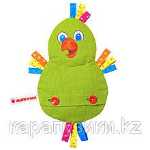 Игрушка с вишневыми косточками  попугай