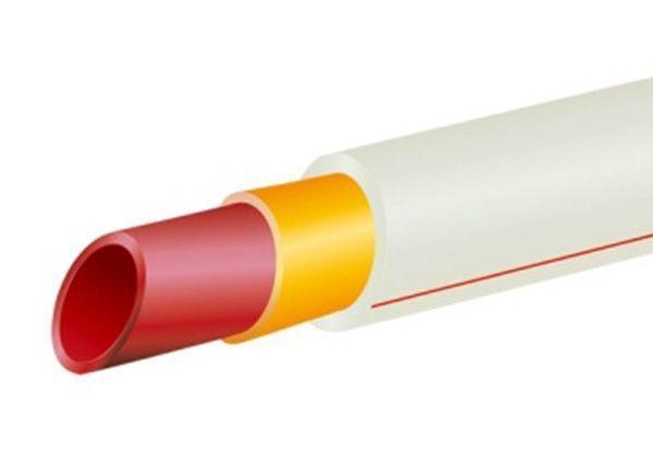 Трубы из полимерно-композитные со средним слоем из фиберволокна для подачи горячей и холодной воды