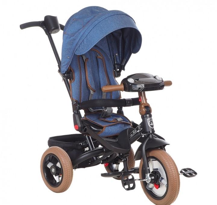 Детский 3-х колесный велосипед Mini Trike Transformer Jeans Синий