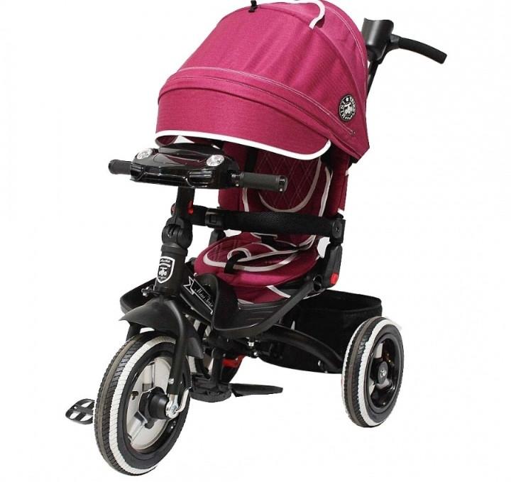 Детский 3-х колесный велосипед Mini Trike Transformer Burgundy Jeans бордовый