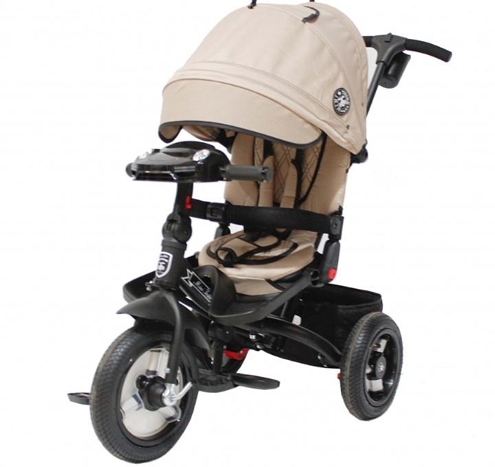 Детский 3-х колесный велосипед Mini Trike Transformer T400/2019 Beige Jeans бежевый