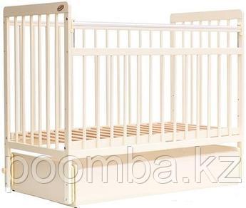 Кровать детская - манеж Bambini Евро стиль с выдвижным ящиком Слоновая кость