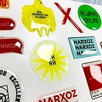 Обьемные наклейки с вашим логотипом