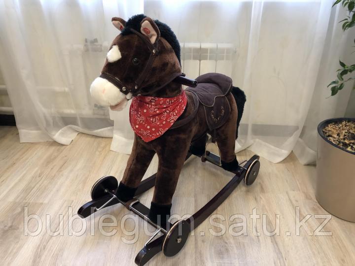 PITUSO Качалка-Лошадка без колес коричневая