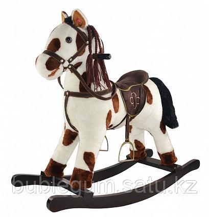 Качалка-лошадка Pituso fandango, белый с коричневыми пятнами