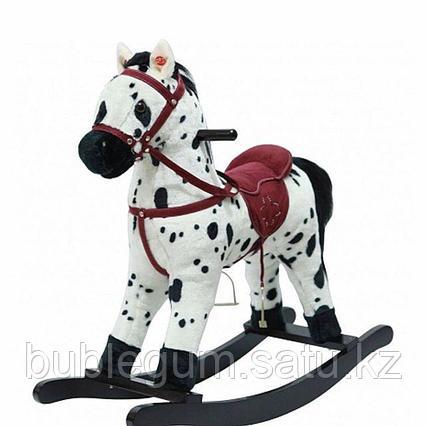"""Качалка-лошадка """"Pituso"""", белая с черными пятнами"""
