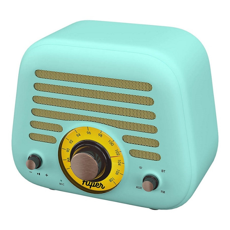Колонка беспроводная RETRO L, цвет голубой , Голубой, -, 36718 22 - фото 3