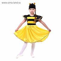 """Карнавальный костюм """"Пчёлка"""", платье, шапка, атлас, плюш, р-р 32, рост 122-128 см"""
