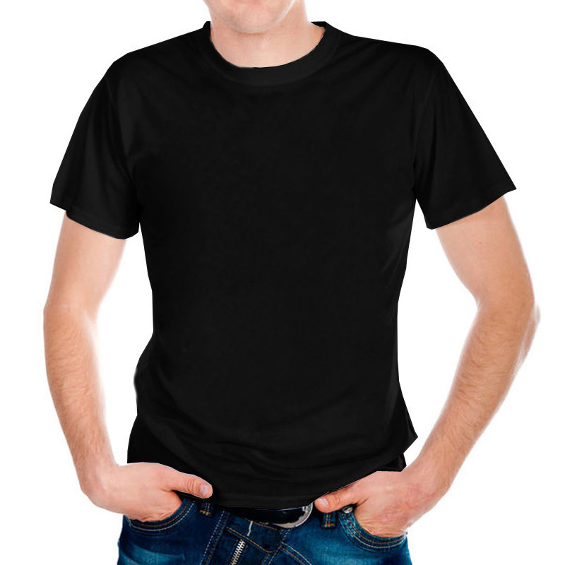 "Футболка Х/Б ""Unisex"", ткань Турция, цвет: черный, р-р 46(S)"