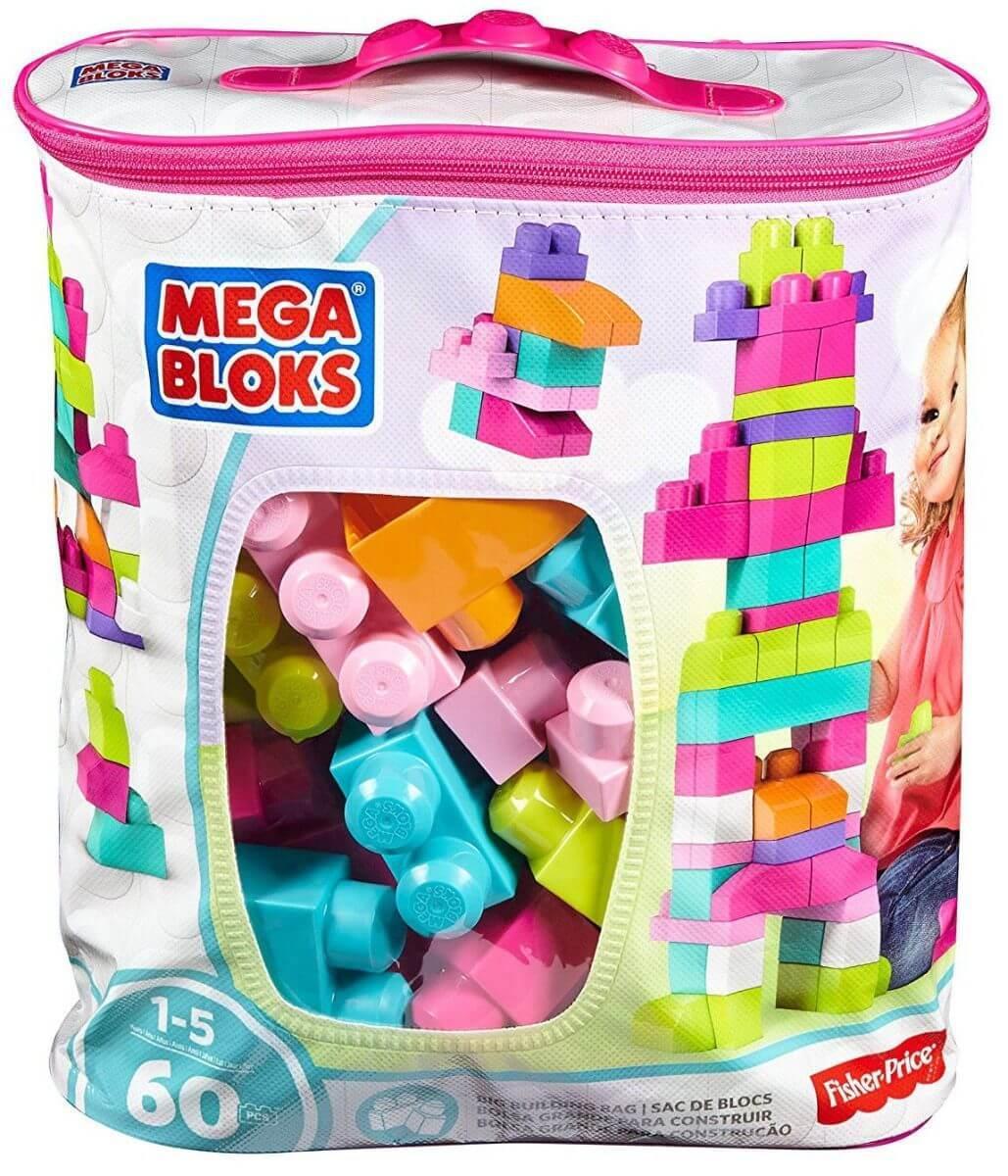 Mattel Mega Bloks Мега Блокс DCH54 Первостроители 60шт.Розовый
