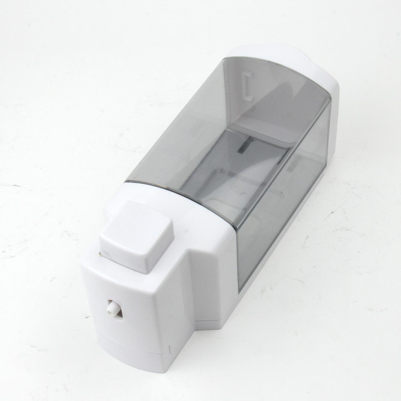 Дозатор для жидкого мыла (белый-прозрачный)