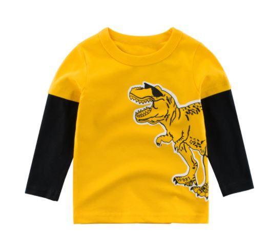 Кофта детская, с динозавром, цвет желтый, 100см
