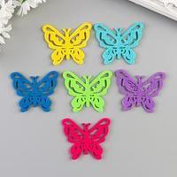 Набор декора для творчества 'Бабочки ажурные' 5x6 см, 6 шт
