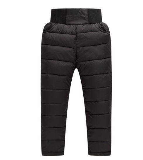 Детские теплые штаны, цвет черный, на 3 годика
